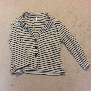 Striped Blazer Shirt